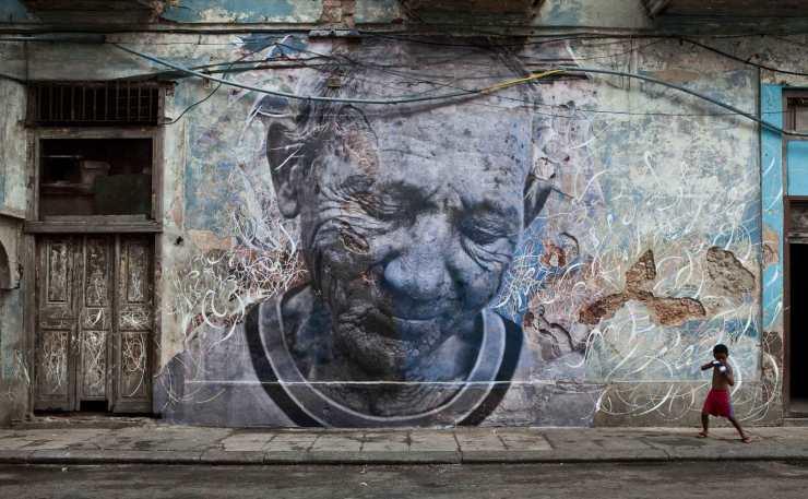 Wrinkles of the City Havana, Cuba JR and Jose Parla, 2012
