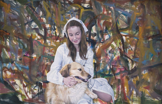 Oist Children Portrait (Girl & Dog) , 2011