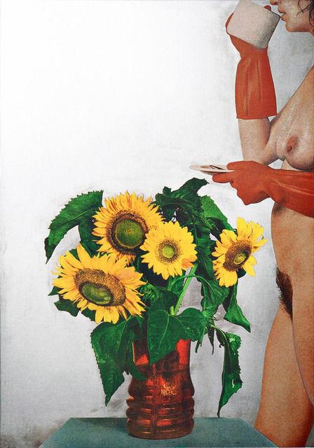 Donna Nuda Con Girasoli, 1974-75