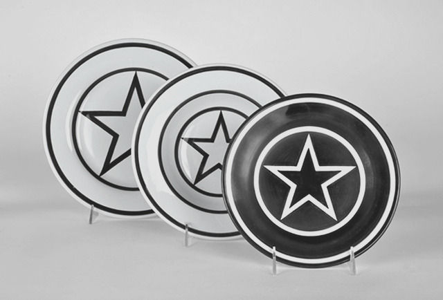 Star Within 2 Circles dinner service, 1984/2014