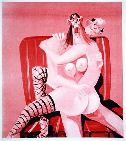 george-condo-pink-seated-couple